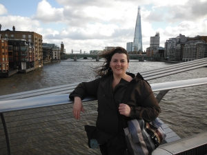 Me in London town, the Shard, and the Thames!