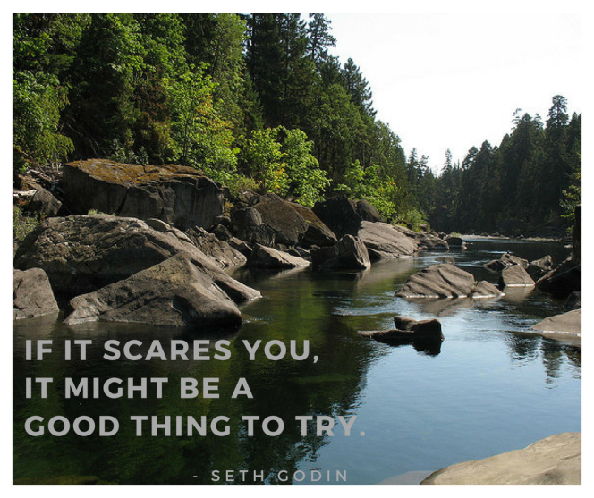 Nanaimo River Picture by Gerry Thomasen Seth Godin quote